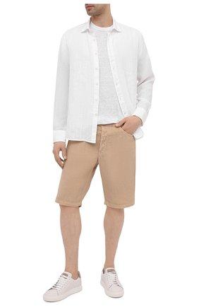 Мужские льняные шорты 120% LINO бежевого цвета, арт. T0M2120/0253/000 | Фото 2