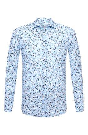 Мужская льняная рубашка 120% LINO голубого цвета, арт. T0M1311/F980/000 | Фото 1