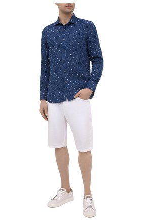 Мужская льняная рубашка 120% LINO синего цвета, арт. T0M1311/E727/000 | Фото 2