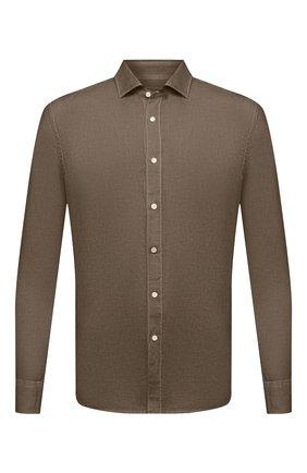 Мужская льняная рубашка 120% LINO хаки цвета, арт. T0M1311/B317/S00 | Фото 1