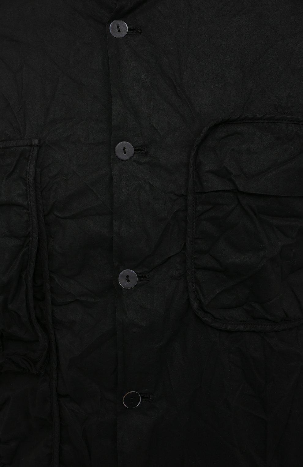 Мужская хлопковая рубашка MASNADA черного цвета, арт. M2661 | Фото 5 (Манжеты: На пуговицах; Воротник: С капюшоном; Рукава: Длинные; Случай: Повседневный; Стили: Панк; Длина (для топов): Стандартные; Материал внешний: Хлопок; Принт: Однотонные)