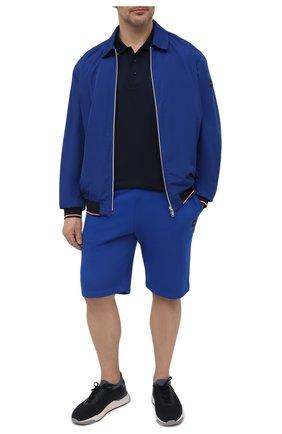 Мужской бомбер PAUL&SHARK синего цвета, арт. 21412225/GQS/3XL-6XL | Фото 2