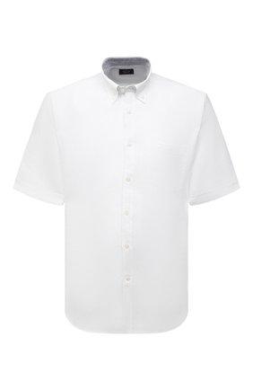 Мужская льняная рубашка PAUL&SHARK белого цвета, арт. 21413109/F7E | Фото 1