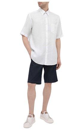Мужская льняная рубашка PAUL&SHARK белого цвета, арт. 21413109/F7E | Фото 2