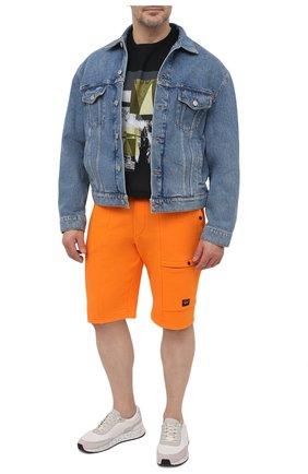 Мужские хлопковые шорты PAUL&SHARK оранжевого цвета, арт. 21411883/C00/3XL-6XL | Фото 2