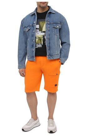 Мужская хлопковая футболка PAUL&SHARK черного цвета, арт. 21411105/C00/3XL-6XL | Фото 2