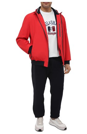 Мужская хлопковая футболка PAUL&SHARK белого цвета, арт. 21411076/C00/3XL-6XL | Фото 2