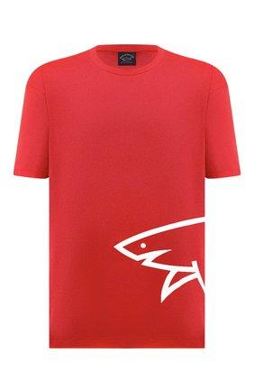 Мужская хлопковая футболка PAUL&SHARK красного цвета, арт. 21411070/C00/3XL-6XL | Фото 1