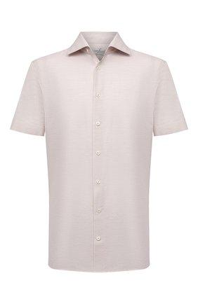Мужская сорочка из хлопка и льна VAN LAACK бежевого цвета, арт. RIVARA-S-TF/160006 | Фото 1
