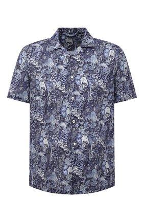 Мужская рубашка изо льна и хлопка VAN LAACK синего цвета, арт. RIB0-S-SF/171577 | Фото 1