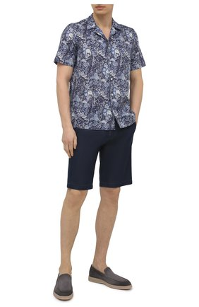 Мужская рубашка изо льна и хлопка VAN LAACK синего цвета, арт. RIB0-S-SF/171577 | Фото 2