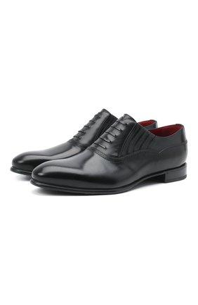 Мужские кожаные лоферы BARRETT черного цвета, арт. 211U048.1/BETIS CREAM | Фото 1