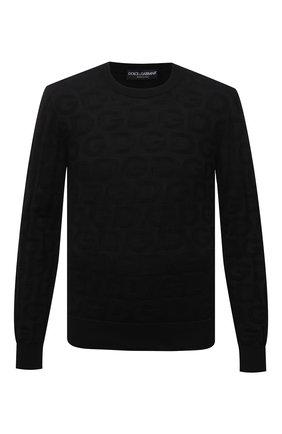 Мужской шелковый джемпер DOLCE & GABBANA черного цвета, арт. GXD56T/JAS0I | Фото 1