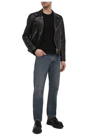 Мужской шелковый джемпер DOLCE & GABBANA черного цвета, арт. GXD56T/JAS0I | Фото 2