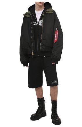 Мужской хлопковая толстовка VETEMENTS черного цвета, арт. UE51TR870B 1605/M   Фото 2