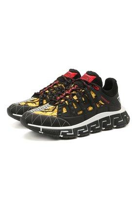 Мужские комбинированные кроссовки trigreca VERSACE разноцветного цвета, арт. DSU8094/D15TCG | Фото 1