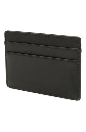Мужской кожаный футляр для кредитных карт VERSACE черного цвета, арт. DPN2467/DVT8ME | Фото 2