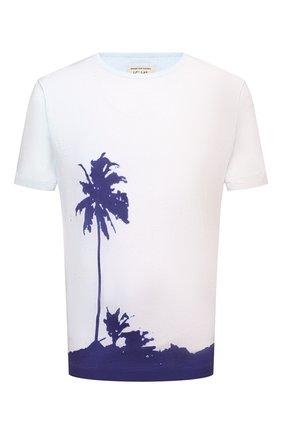 Мужская хлопковая футболка DRIES VAN NOTEN синего цвета, арт. 211-21103-2608 | Фото 1