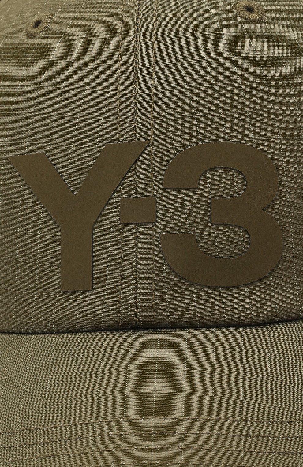 Мужской бейсболка из вискозы и хлопка Y-3 хаки цвета, арт. GT6382/W | Фото 3