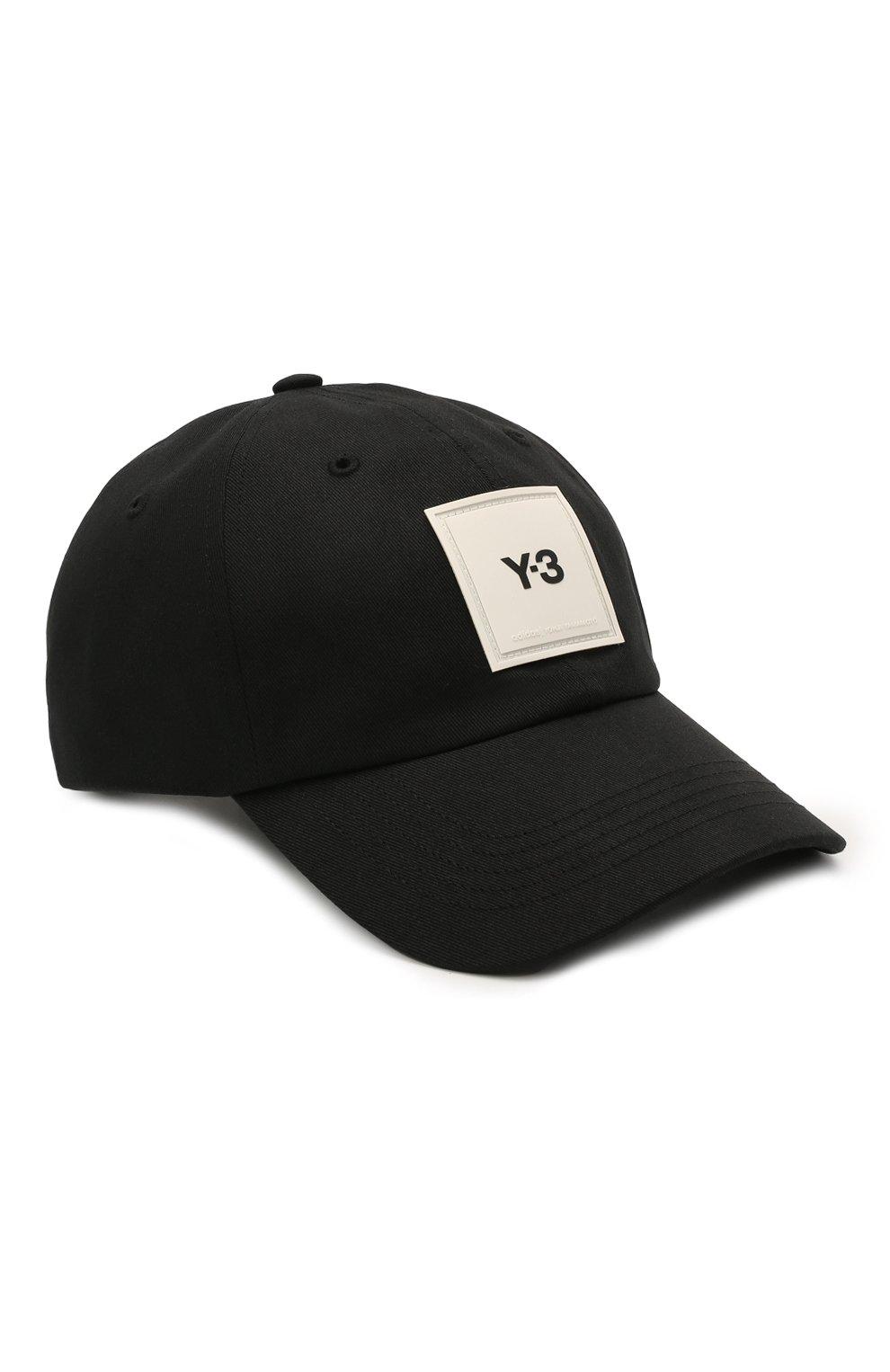 Мужской хлопковая бейсболка Y-3 черного цвета, арт. GT6379/W | Фото 1