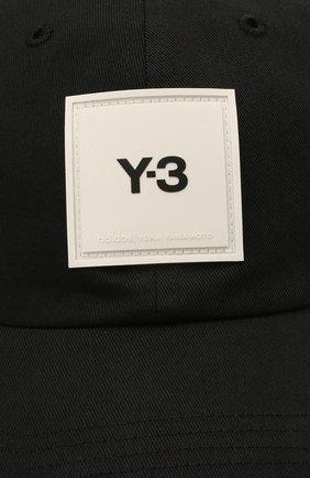 Мужской хлопковая бейсболка Y-3 черного цвета, арт. GT6379/W | Фото 3