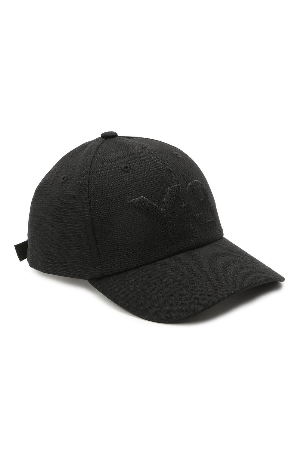 Мужской хлопковая бейсболка Y-3 черного цвета, арт. GK0626/W | Фото 1