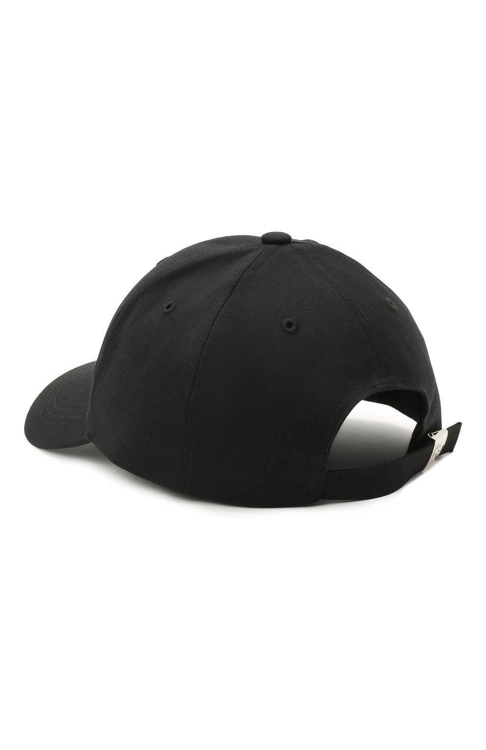 Мужской хлопковая бейсболка Y-3 черного цвета, арт. GK0626/W | Фото 2