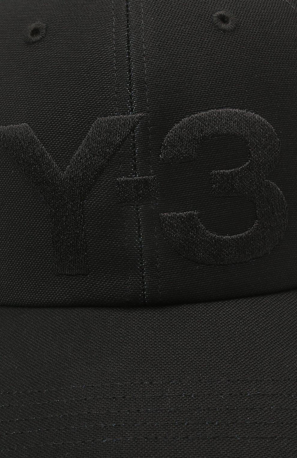 Мужской хлопковая бейсболка Y-3 черного цвета, арт. GK0626/W | Фото 3