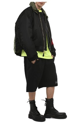 Мужская хлопковая футболка BALENCIAGA желтого цвета, арт. 641675/TJVF7 | Фото 2 (Длина (для топов): Удлиненные; Рукава: Короткие; Материал внешний: Хлопок; Принт: С принтом; Стили: Гранж)