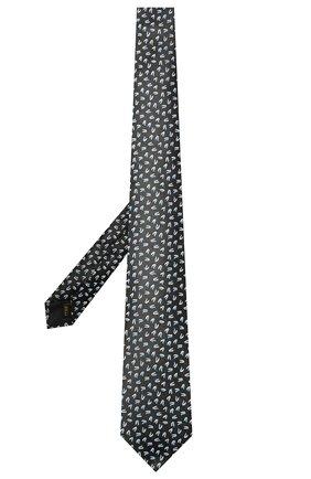 Мужской шелковый галстук ZILLI черного цвета, арт. 51300/TIE   Фото 2