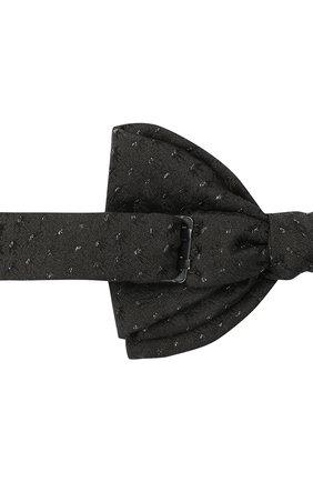 Мужской галстук-бабочка из шелка и вискозы LANVIN черного цвета, арт. 2003/B0W TIE   Фото 3