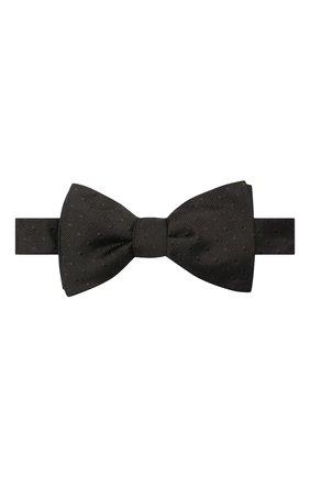 Мужской шелковый галстук-бабочка LANVIN черного цвета, арт. 2050/B0W TIE | Фото 1