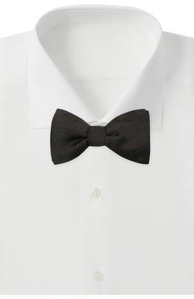 Мужской шелковый галстук-бабочка LANVIN черного цвета, арт. 2050/B0W TIE | Фото 2