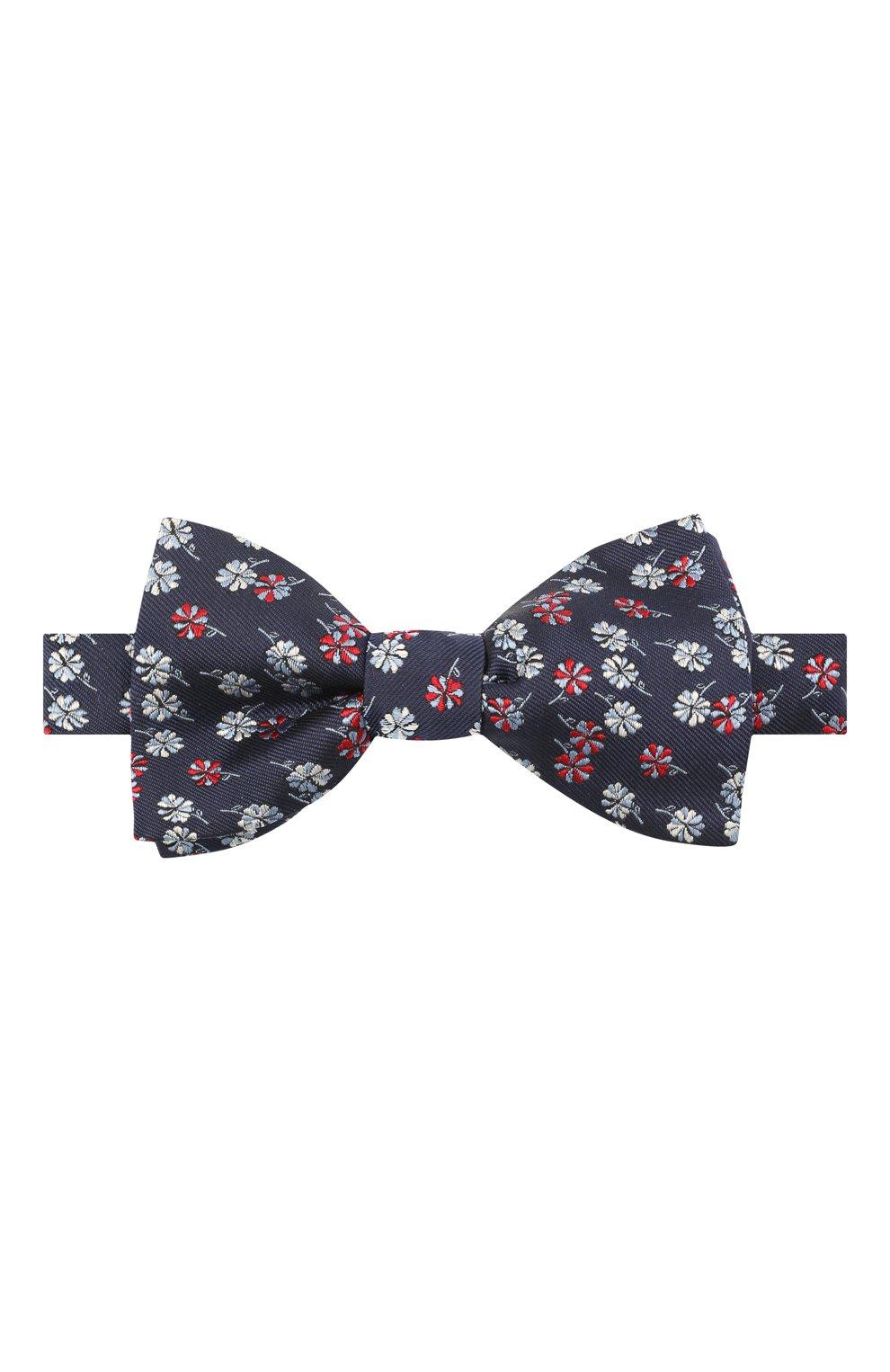 Мужской шелковый галстук-бабочка LANVIN темно-синего цвета, арт. 2077/B0W TIE | Фото 1