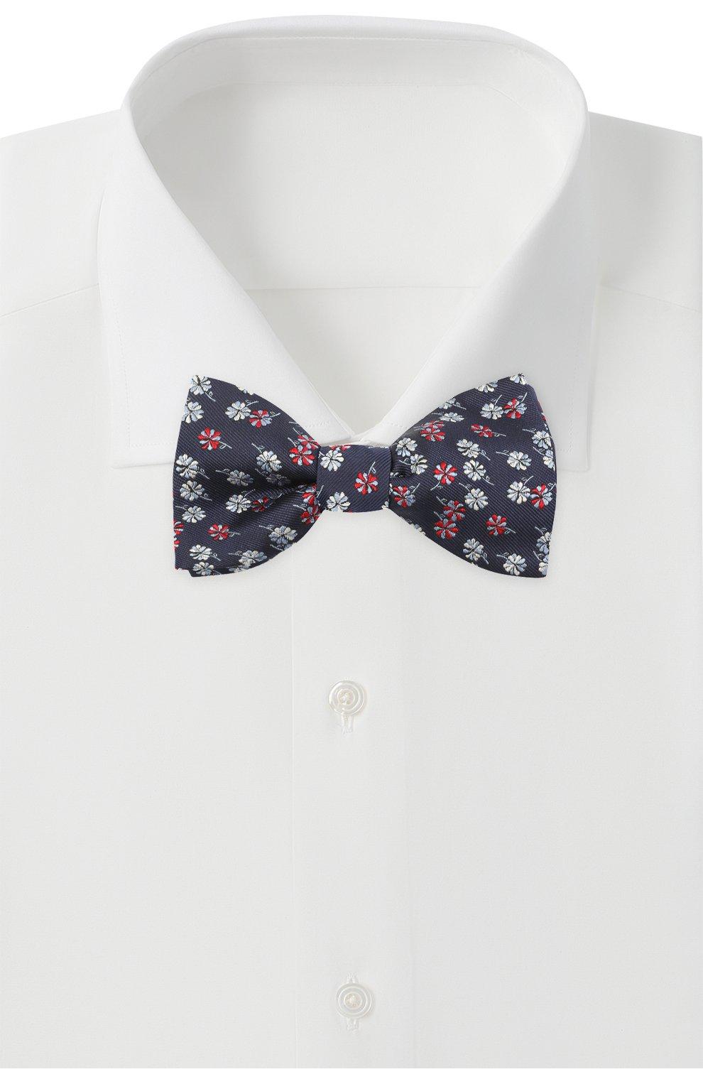 Мужской шелковый галстук-бабочка LANVIN темно-синего цвета, арт. 2077/B0W TIE | Фото 2