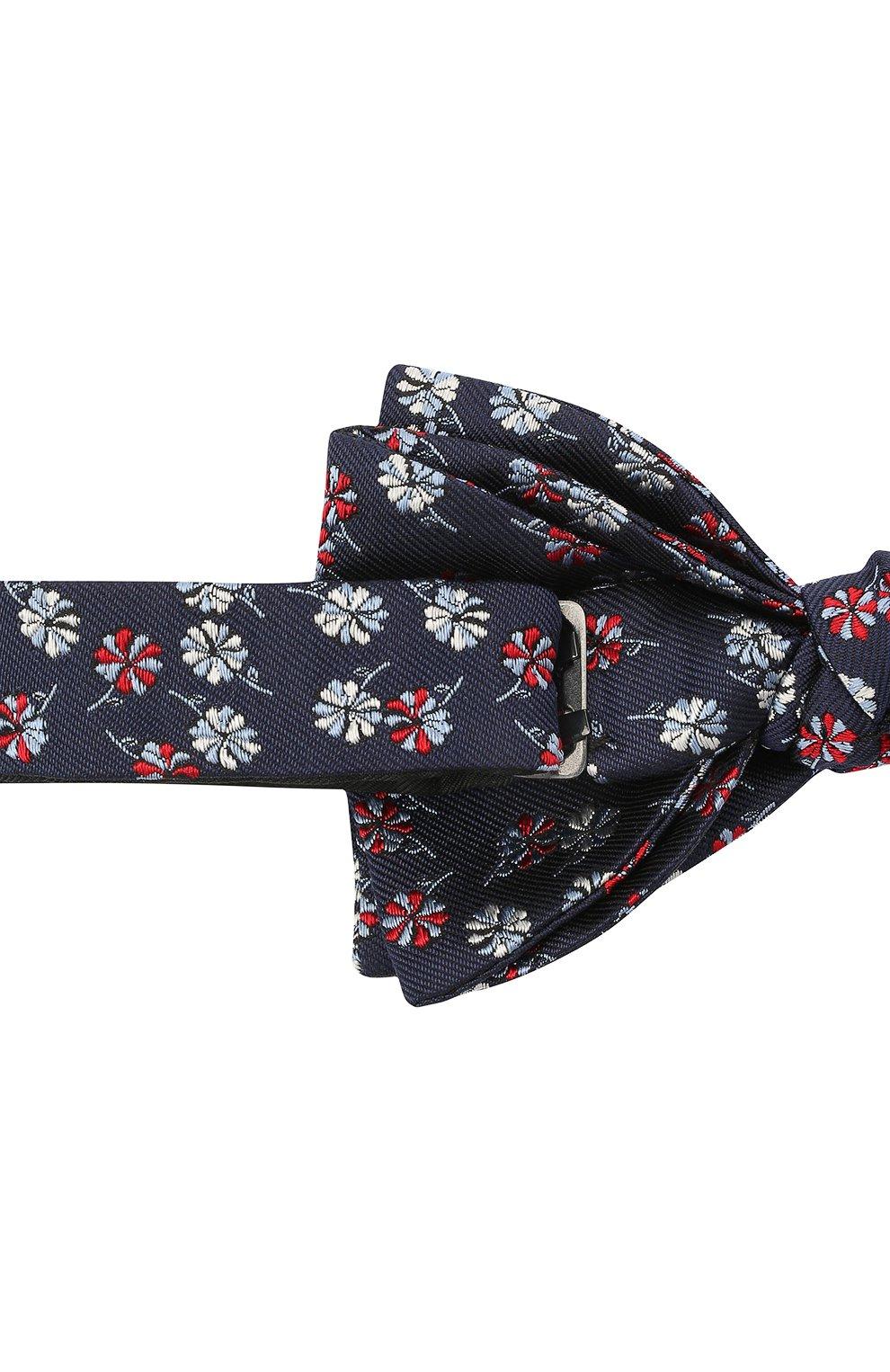 Мужской шелковый галстук-бабочка LANVIN темно-синего цвета, арт. 2077/B0W TIE | Фото 3