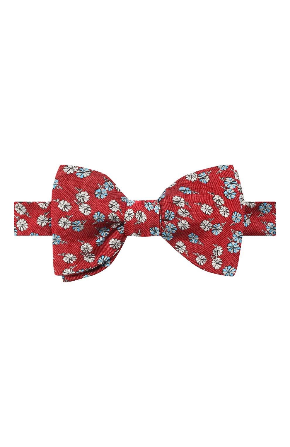 Мужской шелковый галстук-бабочка LANVIN красного цвета, арт. 2077/B0W TIE | Фото 1