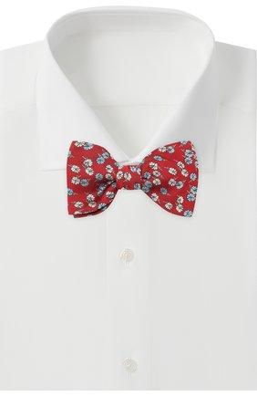 Мужской шелковый галстук-бабочка LANVIN красного цвета, арт. 2077/B0W TIE | Фото 2
