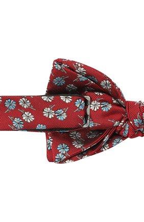 Мужской шелковый галстук-бабочка LANVIN красного цвета, арт. 2077/B0W TIE | Фото 3