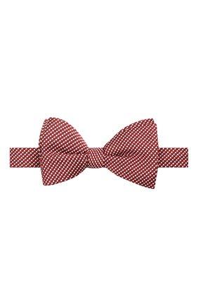 Мужской галстук-бабочка из шелка и хлопка LANVIN красного цвета, арт. 2133/B0W TIE | Фото 1