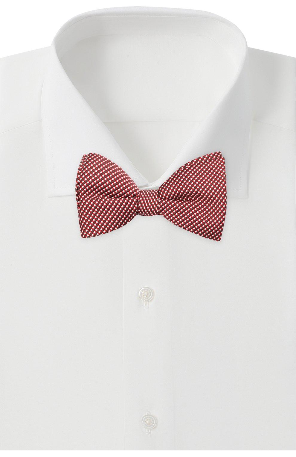 Мужской галстук-бабочка из шелка и хлопка LANVIN красного цвета, арт. 2133/B0W TIE | Фото 2
