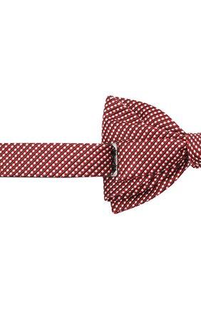 Мужской галстук-бабочка из шелка и хлопка LANVIN красного цвета, арт. 2133/B0W TIE | Фото 3