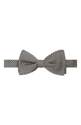 Мужской галстук-бабочка из шелка и хлопка LANVIN серого цвета, арт. 2133/B0W TIE | Фото 1