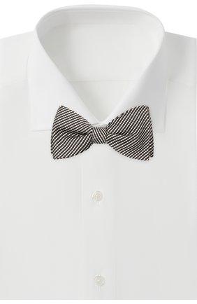 Мужской галстук-бабочка из шелка и хлопка LANVIN серого цвета, арт. 2133/B0W TIE | Фото 2