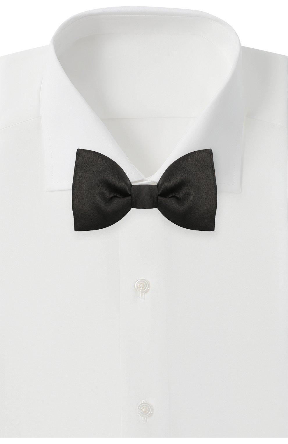 Мужской шелковый галстук-бабочка LANVIN черного цвета, арт. 2242/B0W TIE   Фото 2