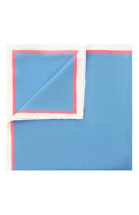 Мужской шелковый платок LANVIN голубого цвета, арт. 2803/HANDKERCHIEF | Фото 1