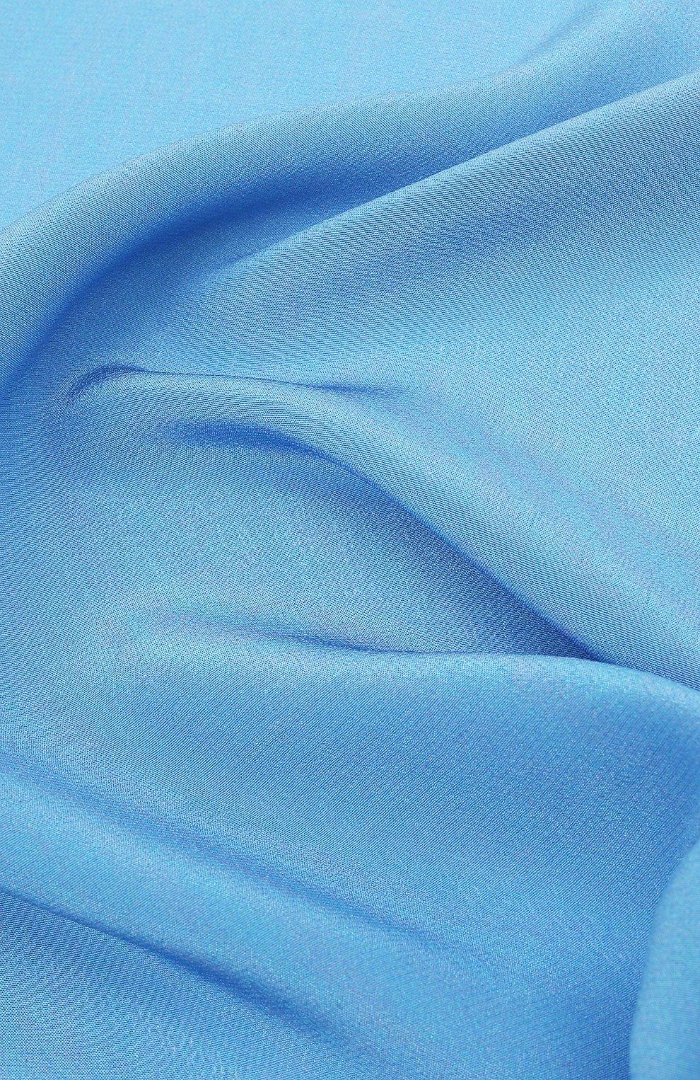 Мужской шелковый платок LANVIN голубого цвета, арт. 2803/HANDKERCHIEF | Фото 2