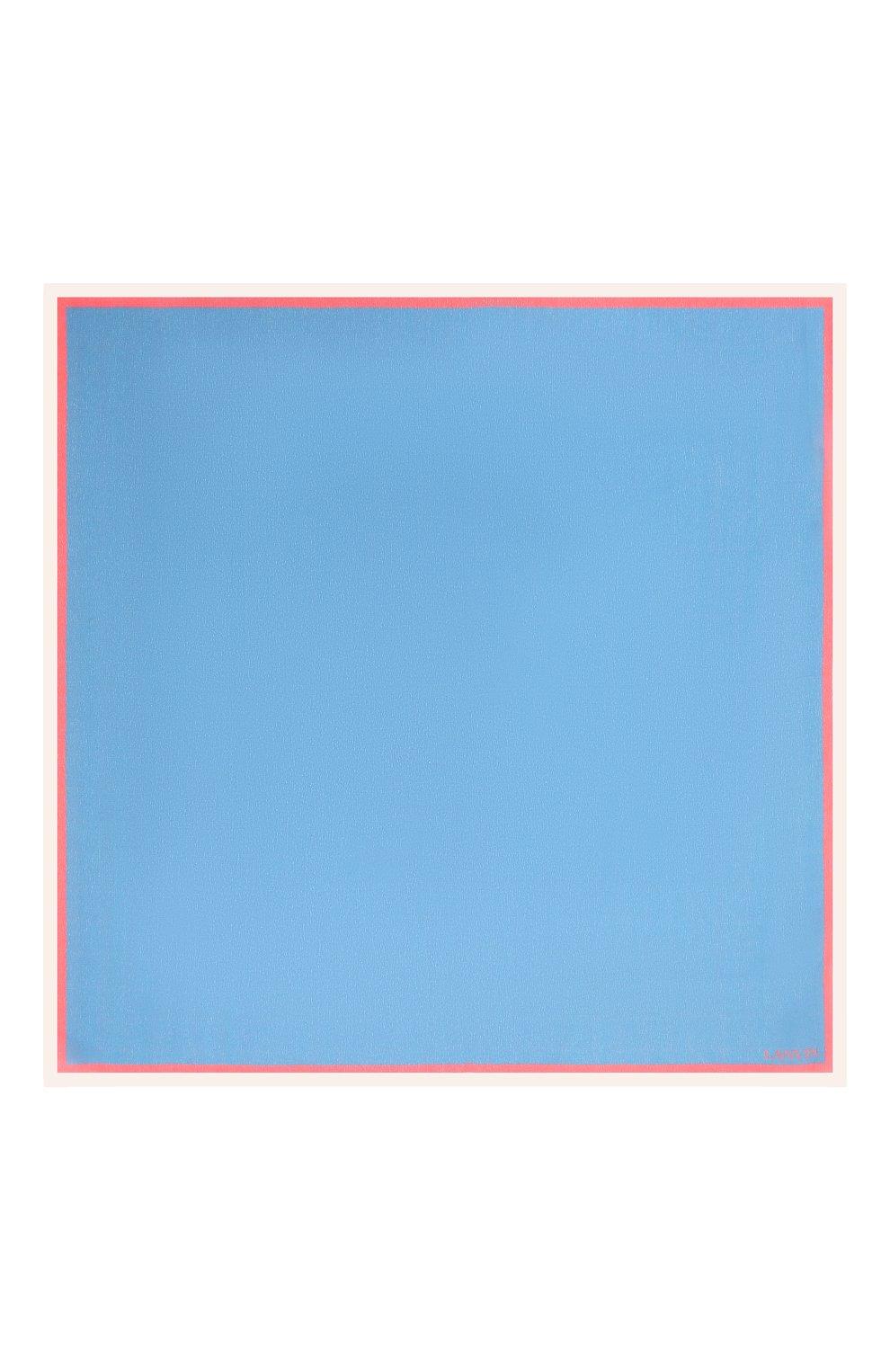 Мужской шелковый платок LANVIN голубого цвета, арт. 2803/HANDKERCHIEF | Фото 3