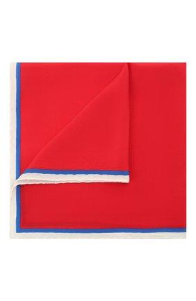 Мужской шелковый платок LANVIN красного цвета, арт. 2803/HANDKERCHIEF | Фото 1