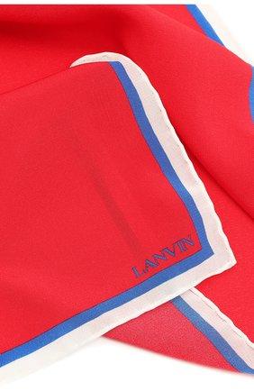 Мужской шелковый платок LANVIN красного цвета, арт. 2803/HANDKERCHIEF | Фото 2